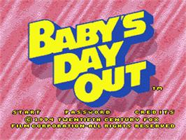 Title screen of Baby's Day Out on the Sega Nomad.