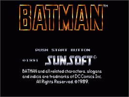 Title screen of Batman: Return of the Joker on the Sega Nomad.