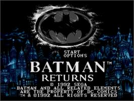 Title screen of Batman Returns on the Sega Nomad.