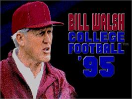 Title screen of Bill Walsh College Football 95 on the Sega Nomad.