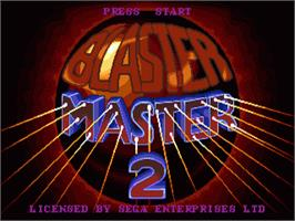 Title screen of Blaster Master 2 on the Sega Nomad.