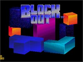 Title screen of Blockout on the Sega Nomad.