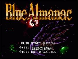 Title screen of Blue Almanac on the Sega Nomad.
