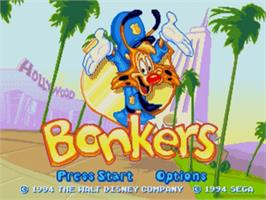 Title screen of Bonkers on the Sega Nomad.