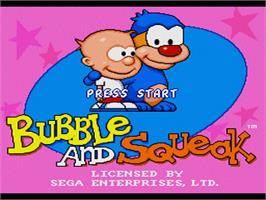 Title screen of Bubble and Squeak on the Sega Nomad.
