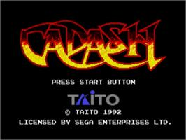 Title screen of Cadash on the Sega Nomad.