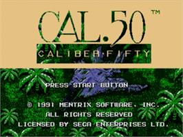 Title screen of Caliber 50 on the Sega Nomad.