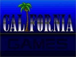 Title screen of California Games on the Sega Nomad.