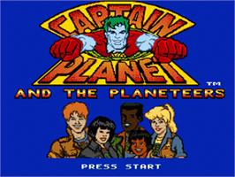 Title screen of Captain Planet and the Planeteers on the Sega Nomad.