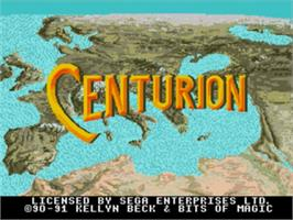 Title screen of Centurion: Defender of Rome on the Sega Nomad.
