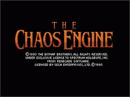 Title screen of Chaos Engine, The on the Sega Nomad.