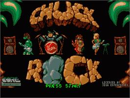 Title screen of Chuck Rock on the Sega Nomad.