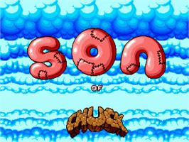 Title screen of Chuck Rock 2: Son of Chuck on the Sega Nomad.