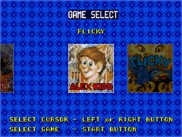 Title screen of Classic Collection on the Sega Nomad.