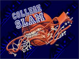 Title screen of College Slam on the Sega Nomad.