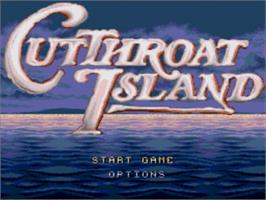 Title screen of Cutthroat Island on the Sega Nomad.