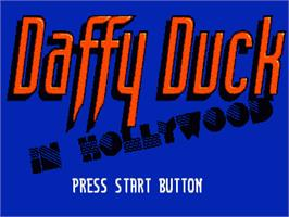 Title screen of Daffy Duck in Hollywood on the Sega Nomad.