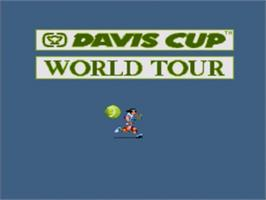 Title screen of Davis Cup World Tour Tennis on the Sega Nomad.