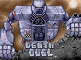 Title screen of Death Duel on the Sega Nomad.