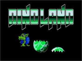 Title screen of Dino Land on the Sega Nomad.