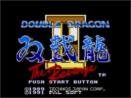 Title screen of Double Dragon II - The Revenge on the Sega Nomad.