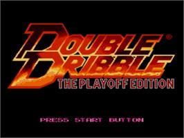Title screen of Double Dribble: The Playoff Edition on the Sega Nomad.