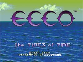 Title screen of Ecco 2: The Tides of Time on the Sega Nomad.