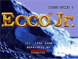Title screen of Ecco Jr. on the Sega Nomad.