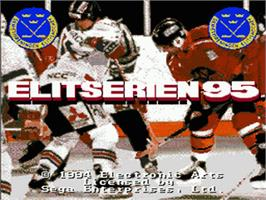 Title screen of Elitserien 95 on the Sega Nomad.