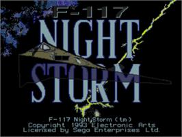 Title screen of F-117 Night Storm on the Sega Nomad.