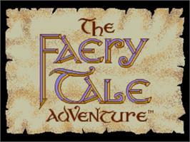 Title screen of Faery Tale Adventure, The on the Sega Nomad.