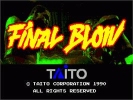 Title screen of Final Blow on the Sega Nomad.