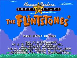 Title screen of Flintstones, The on the Sega Nomad.