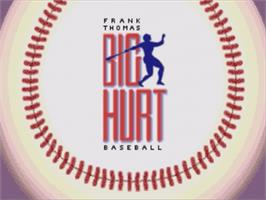 Title screen of Frank Thomas Big Hurt Baseball on the Sega Nomad.