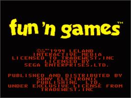 Title screen of Fun 'N Games on the Sega Nomad.