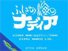 Title screen of Fushigi no Umi no Nadia on the Sega Nomad.