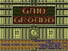 Title screen of Gain Ground on the Sega Nomad.
