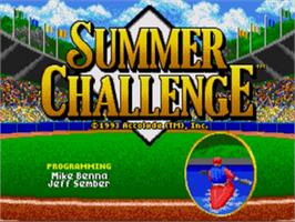 Title screen of Games: Summer Challenge, The on the Sega Nomad.