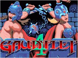 Title screen of Gauntlet IV on the Sega Nomad.