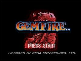Title screen of Gemfire on the Sega Nomad.
