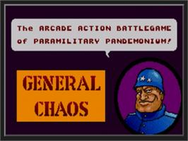 Title screen of General Chaos on the Sega Nomad.