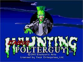 Title screen of Haunting Starring Polterguy on the Sega Nomad.