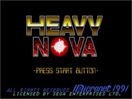 Title screen of Heavy Nova on the Sega Nomad.