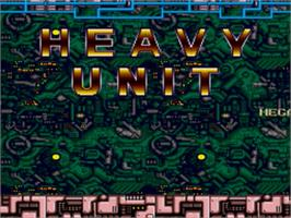 Title screen of Heavy Unit: Mega Drive Special on the Sega Nomad.