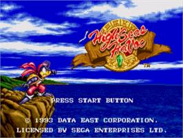 Title screen of High Seas Havoc on the Sega Nomad.