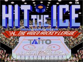 Title screen of Hit The Ice on the Sega Nomad.
