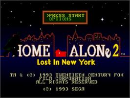 Title screen of Home Alone 2 - Lost in New York on the Sega Nomad.