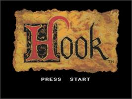 Title screen of Hook on the Sega Nomad.