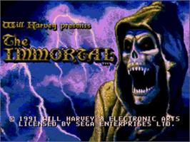 Title screen of Immortal, The on the Sega Nomad.