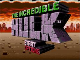 Title screen of Incredible Hulk, The on the Sega Nomad.